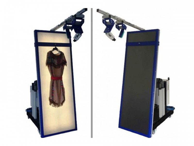 APACHE APPAREL DIMENSIONER: measuring the volume and weight of hanging garments